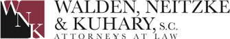 Logo for the law firm Walden, Neitzke & Kuhary, S.C. in Waukesha, Wisconsin